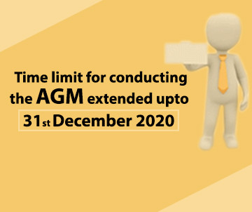 Time Limit for conducting the AGM extended upto 31st December 2020