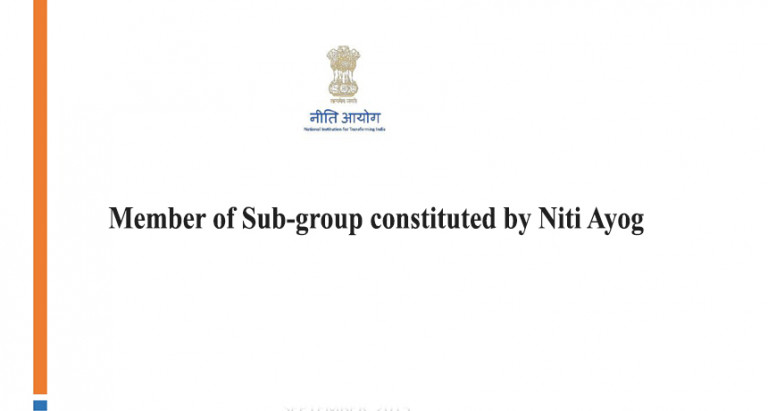 Member of Sub-group constituted by Niti Ayog