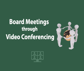 E-communique released on Board Meetings through Video Conferencing