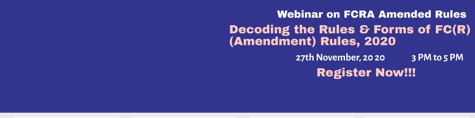 Webinar on FCRA Amended Rules