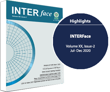 Volume XX Issue 2 of INTERface for the period July - December 2020 released