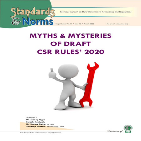 Myths and Mysteries of Draft CSR Rules 2020