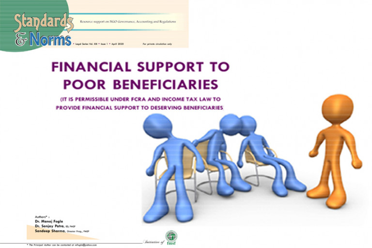 Financial Support to Poor Beneficiaries